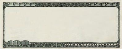 примечание 100 долларов copyspace банка пустое Стоковые Фото