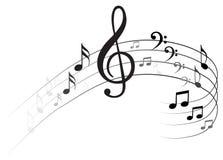 Примечание Backgraund музыки иллюстрация штока