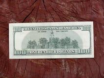 примечание hndred долларом одно Стоковое Изображение