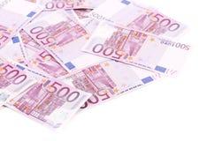 500 примечаний евро. Стоковые Изображения RF