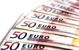 50 примечаний евро Стоковые Фотографии RF