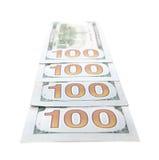 400 примечаний доллара Стоковое Изображение