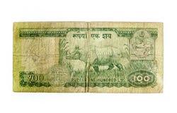 100 примечаний рупии Стоковое фото RF