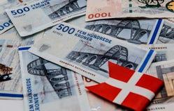 100 400 примечаний dkr валюты счета датских Стоковое Изображение RF