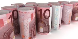 10 примечаний Rolls евро иллюстрация штока