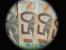 примечания банка обрамленные евро Стоковое Изображение RF