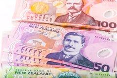 Примечания в валюте Новой Зеландии Стоковое Изображение