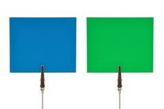 примечания голубого зеленого цвета Стоковые Фотографии RF