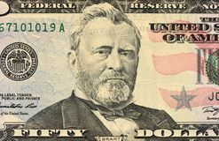 примечания доллара 50 банка Стоковое Изображение