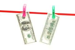 примечания доллара 100 банка Стоковая Фотография