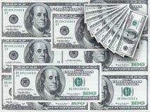 примечания доллара 100 Стоковое Изображение RF