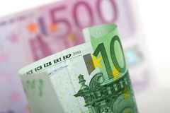 примечания евро банка Стоковые Фото