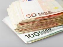 примечания евро банка Стоковое фото RF