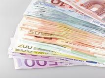 примечания евро банка Стоковое Изображение
