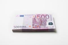 примечания евро банка Стоковые Изображения RF