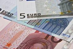 примечания евро банка стоковая фотография rf
