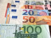 Примечания евро, Европейский союз Стоковая Фотография