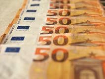 Примечания евро, Европейский союз Стоковая Фотография RF