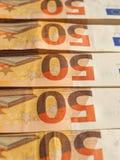 Примечания евро, Европейский союз Стоковое фото RF