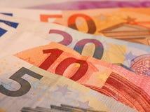 Примечания евро закрывают вверх Стоковые Фотографии RF