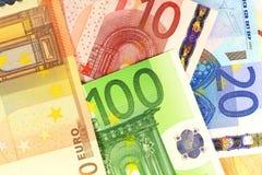 Примечания евро как предпосылка Стоковая Фотография RF