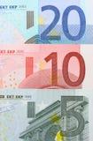 примечания евро крупного плана Стоковое фото RF