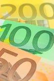 примечания евро крупного плана Стоковые Фотографии RF
