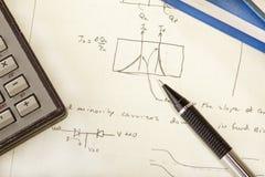 примечания инженерства Стоковые Изображения RF