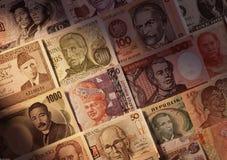 Примечания иностранных валют стоковое фото rf