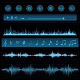 Примечания и звуковые войны Стоковое Изображение RF