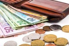 Примечания и монетки в валюте Новой Зеландии Стоковые Изображения RF