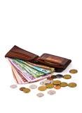Примечания и монетки в валюте Новой Зеландии Стоковое Изображение RF