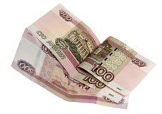 Примечания 500 и 100 рублей Стоковая Фотография RF
