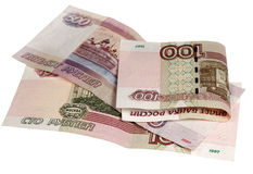 Примечания 500 и 100 рублей Стоковое Изображение RF