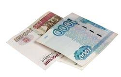 Примечания 100 и тысячи рублей Стоковые Изображения RF
