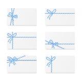 Примечания карточки с смычками подарка Стоковая Фотография RF