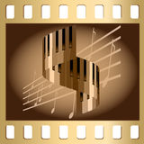 примечания клавиатуры Стоковые Изображения RF