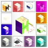 примечания коробки Стоковые Изображения RF