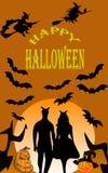 примечания лунного света halloween летучей мыши предпосылки стоковые изображения rf
