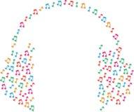 Примечания музыки как наушники иллюстрация штока