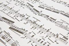 Примечания музыки написанные как предпосылка Стоковые Изображения RF