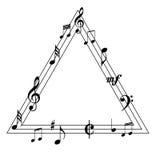 Примечания музыки на trigonal Стоковые Изображения RF
