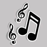 Примечания музыки Стоковые Изображения