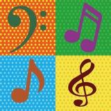 Примечания музыки Стоковые Изображения RF