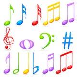 Примечания музыки бесплатная иллюстрация