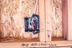 Примечания написанные на деревянных стержнях новой домашней конструкции Стоковые Изображения