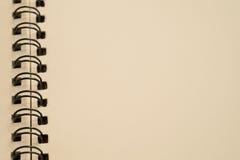 Примечания на черной спирали Стоковая Фотография RF