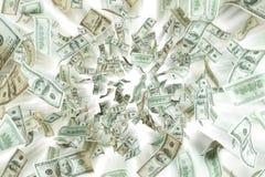 Примечания доллара летания Стоковые Изображения RF