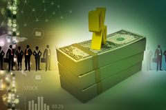 Примечания доллара с знаком процента Стоковые Изображения