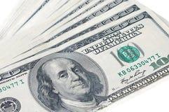 Примечания 100 долларов США счетов в фото крупного плана, u S curren Стоковое фото RF
